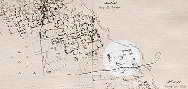 Map showing the setting of Sheikh Abdullah bin Jassim's development at feriq al-Salata