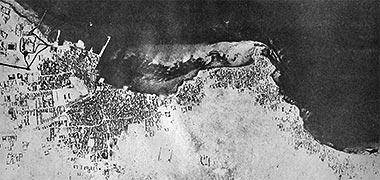 A photograph of development at Doha, 1952