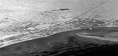 An aerial view of Wakra taken from the south-east in 1965