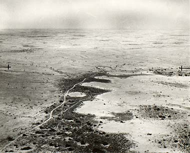An emergency landing place photographed in May 1935 – courtesy of the British Library and Qatar Foundation
