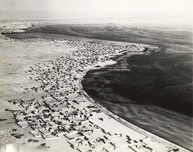 An aerial view of al-Salata, taken 9th May 1934, looking north-west – courtesy of the British Library and Qatar Foundation