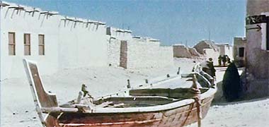 A view looking west near Sheikh Abdullah's complex seen in the late 1960s – image developed from a video with permission from glasney on YouTube