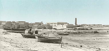 A view along the shore east of Sheikh Abdullah's complex seen in the late 1960s – image developed from a video with permission from glasney on YouTube