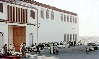 The palace of Sheikh Ali bin Abdullah at Rayyan in 1966 – image developed from a Youtube video