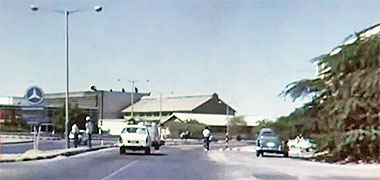 Cable and Wireless roundabout, 1968 – image developed from a video with permission from glasney on YouTube