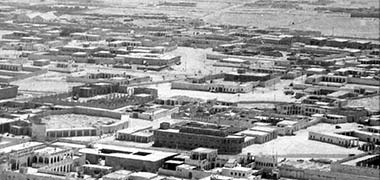 An early aerial view over the developing suburbs of Doha – retrieved from an online video of the Msheireb project
