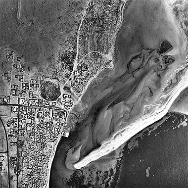 An aerial view of Wakra in the 1950s