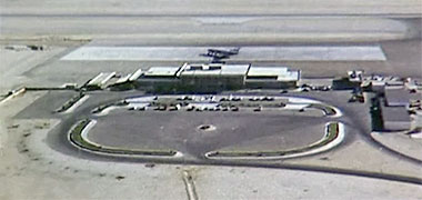 Qatar International Airport, 1968 – image developed from a video with permission from glasney on YouTube