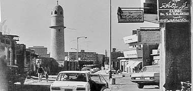 Looking along al-Asmakh Street – with permission from 'Photos of Qatar's Past' on Facebook