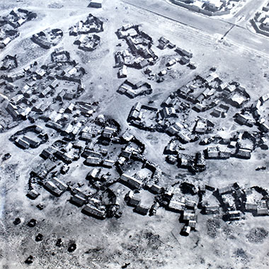 Part of the barasti situated inside the 'C' ring road, 1973