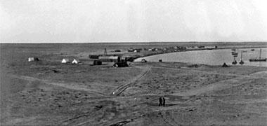 The village and associated bay of al-Shamaliyah, probably taken around 1938 – courtesy of Qatar Digital Library