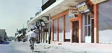 A view west along Breadshop Street, 1968 – image developed from a video with permission from glasney on YouTube