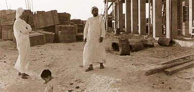 Abdullah Darwish on site in 1954 – with the permission of Mohammad Z Naseer