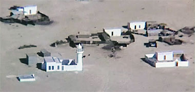 A mosque in the desert, 1968 – image developed from a video with permission from glasney on YouTube