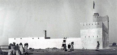 The fort on the Hawar islands, probably taken around 1938 – courtesy of Qatar Digital Library