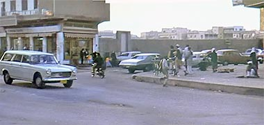 The south-east corner of the central graveyard, 1968 – image developed from a video with permission from glasney on YouTube