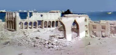 The majlis of Sheikh Abdullah's seen in the late 1960s – image developed from a video with permission from glasney on YouTube