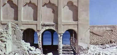 A view through the majlis of Sheikh Abdullah's seen in the late 1960s – image developed from a video with permission from glasney on YouTube