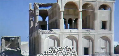 The west face of Sheikh Abdullah's house in the 1960s – image developed from a video with permission from glasney on YouTube
