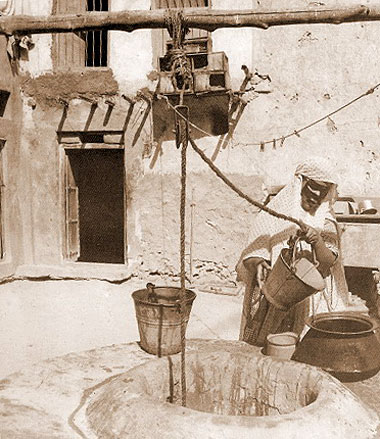Drawing water from a well