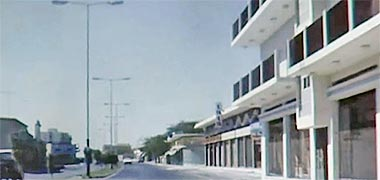 Rayyan Road east of Toyland roundabout, 1968 – image developed from a video with permission from glasney on YouTube
