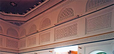 Inside the main ground floor room in the reconstructed majlis of Sheikh Abdullah