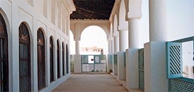 The first floor verandah to the reconstructed majlis of Sheikh Abdullah