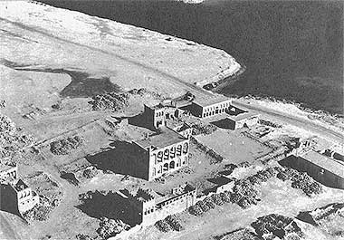 An aerial view from the south-west of part of the complex of Sheikh Abdullah bin Jassim – with permission from ?salat? on Flickr