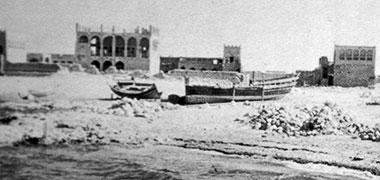 The complex of Sheikh Abdullah bin Jassim at feriq al-Salata viewed from the north-east