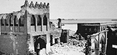 The north gate to the complex of Sheikh Abdullah bin Jassim at feriq al-Salata viewed from the south-west