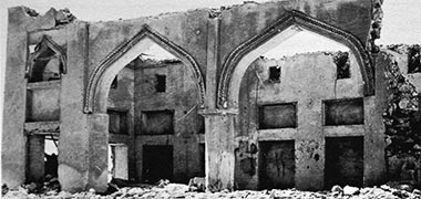 The façade of Sheikh Abdullah's house