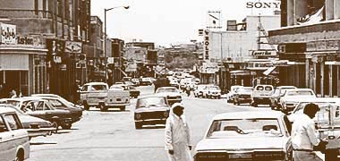 Looking south down Electricity Street – with permission from 'Photos of Qatar's Past' on Facebook