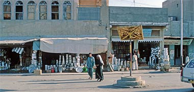 Traffic police stand, March 1972