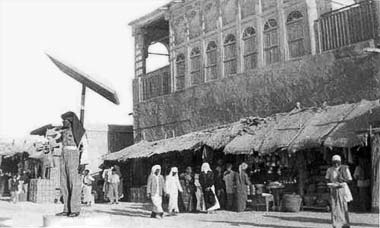 Traffic direction in the old suq