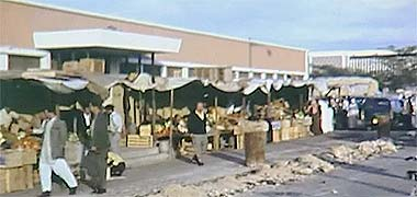 Part of the vegetable market, 1968 – image developed from a video with permission from glasney on YouTube