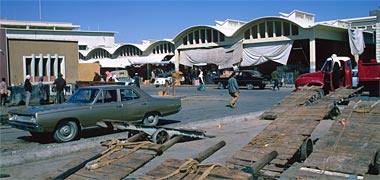 Looking north-west towards the vegetable suq in March 1972