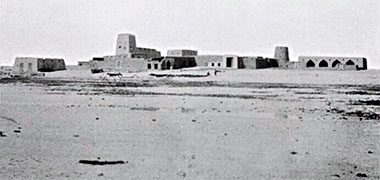 An early photograph of the fort at Wakra – courtesy of the Qatar Digital Library
