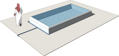 sketch diagram of a reflecting pool