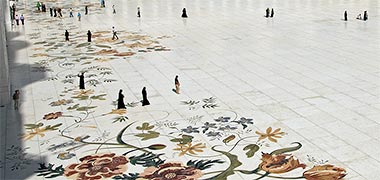 Орнамент на полу мечети