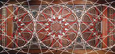 طراحی و طرح بندی از پانل درب نشان هندسه 12 نقطه