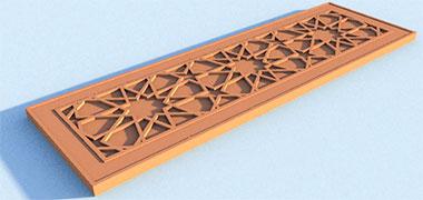 طرح یک پانل درب مصر بر اساس هندسه 10-PT