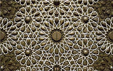 درب مسجد بزرگ با پایه و اساس آن سوار هندسی