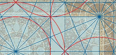 جزئیات اساس طراحی هندسی از فرش Aradabil