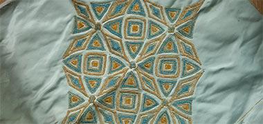 الگوی ابریشم تزئین