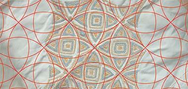 بر اساس هندسی برای یک الگوی ابریشم تزئین