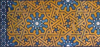 tilework موزاییک، اصفهان، ژوئن 1975