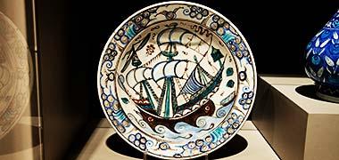طراحی ترکیه بر اساس یک کشتی، عکس در ویکتوریا و آلبرت موزه، لندن