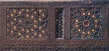 جزئیات از پانل های در منبر در موزه ویکتوریا و آلبرت