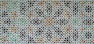 الگودهی موزاییک ظریف از قصر، کاخ سلطنتی، سویا، اندلس